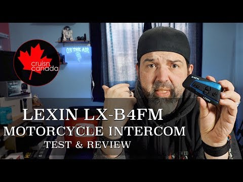 Best Motorcycle Headset For 2019? Lexin LX B4FM Headset Test And Review
