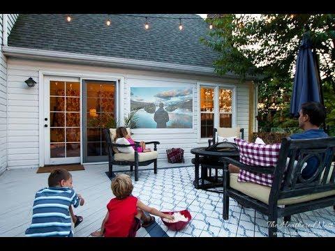 Easy diy outdoor movie screen youtube easy diy outdoor movie screen freerunsca Image collections