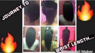 My Hair Journey To Waist Length ?? (Relaxed Hair)..!