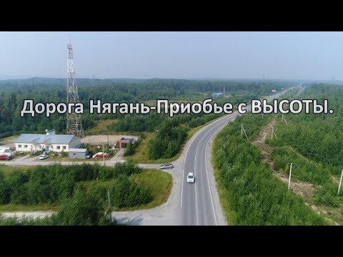 Дорога Нягань-Приобье с ВЫСОТЫ.