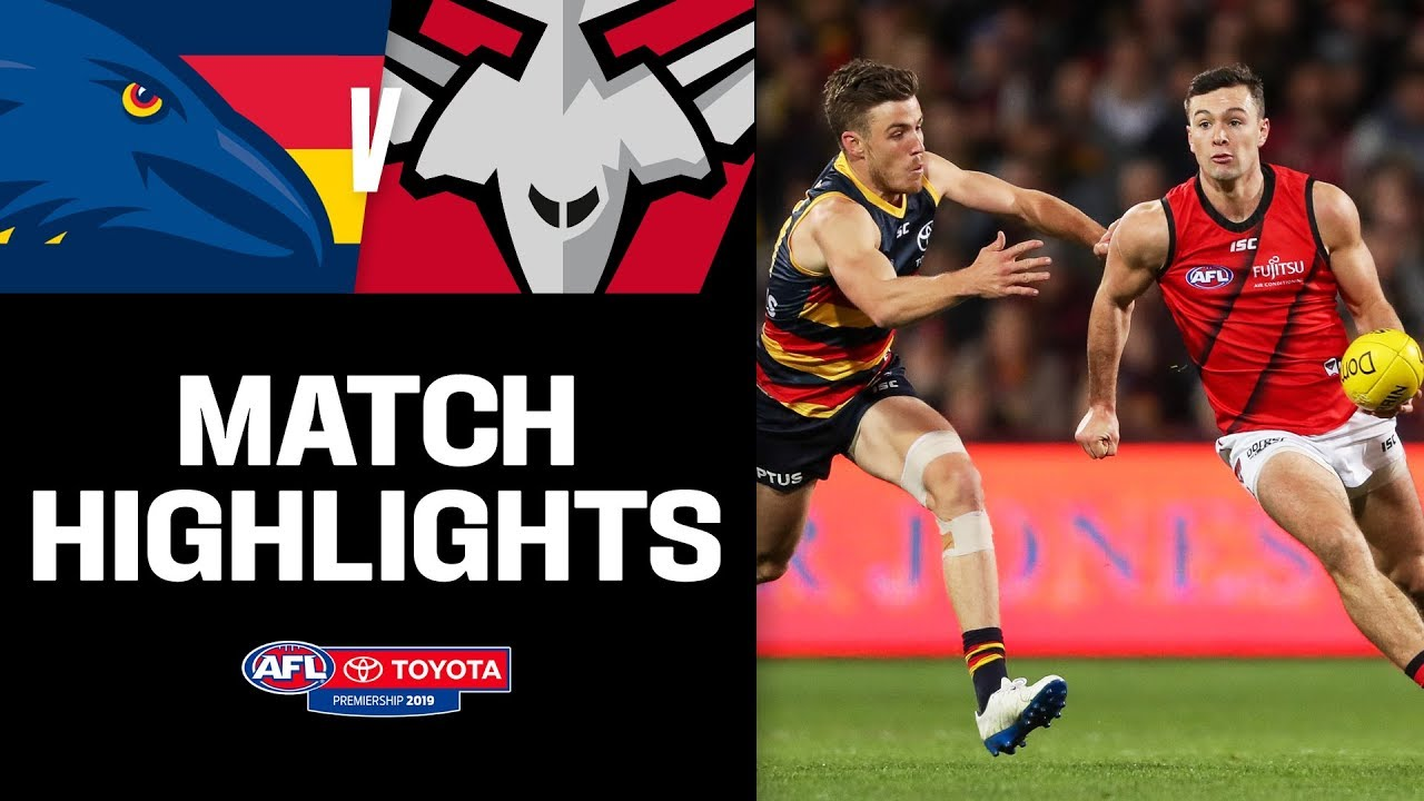 Adelaide v Essendon Highlights | Round 18, 2019 | AFL
