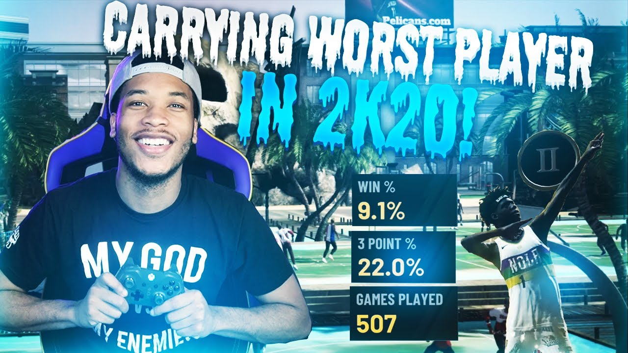 Carrying The WORST Player In 2K History! Nba 2k20
