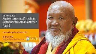 Summer retreat: NgalSo Tantric Self-Healing Method of Manjushri Guhyasamaja Vajra Vegavan Body Mandala (English – Italian) – 10/16 July 2017