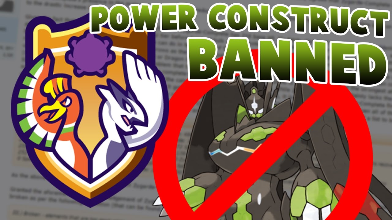 Power Construct BANNED by Smogon • Pokémon Sun & Moon Smogon tier update