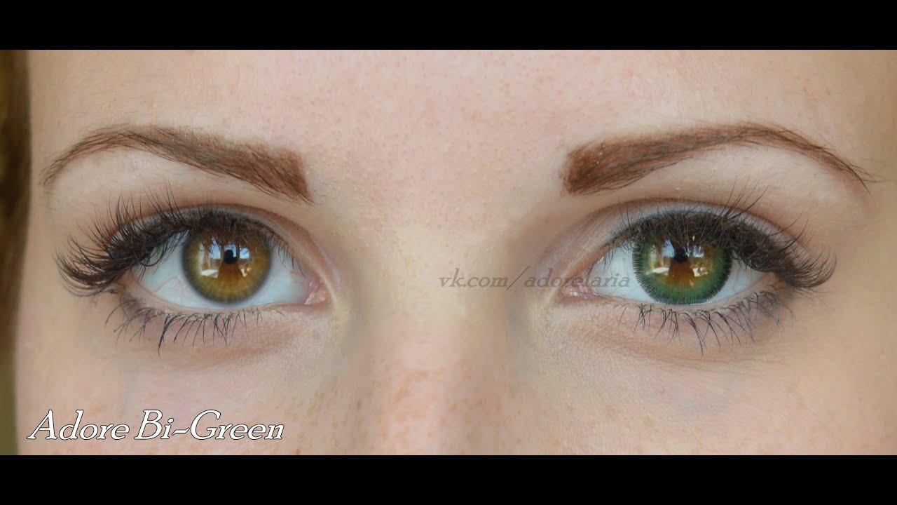 Цветные линзы - Моя коллекция контактных линз - YouTube