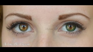 Цветные контактные линзы ADORE на карих глазах. Lenses ADORE on dark eyes. HD(, 2015-07-26T20:08:37.000Z)