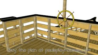 Paul's Pirateship Playhouse Plan Tour