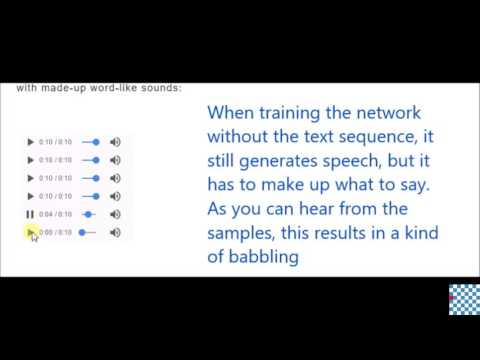 DeepMind's WaveNet Text-To-Speech Algorithm