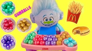 Trolls Guy Diamond has McDonald's Happy Meal & Colorful Gumballs