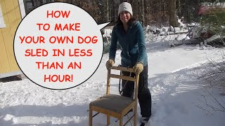Make Your Own Dog Sled in Less Than an Hour Part 1: Episode #65