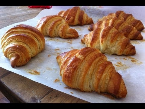 Ricetta Brioches Knam.Croissants Francesi Fatti In Casa Come Quelli Del Bar Youtube
