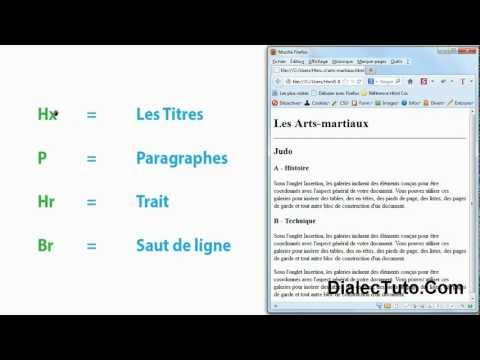 6. Cours Html5 :  H. , P , Hr , Br