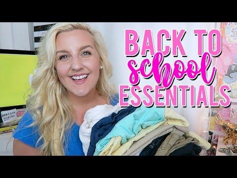 PREPPY BACK TO SCHOOL FASHION ESSENTIALS!! PREPPY BASICS// STAPLES 2018    Kellyprepster