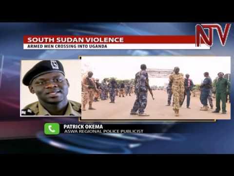 Armed uniformed men sighted crossing into Uganda from South Sudan