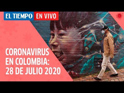 Coronavirus en Colombia: Estas son las cifras de la pandemia del 28 de julio del 2020