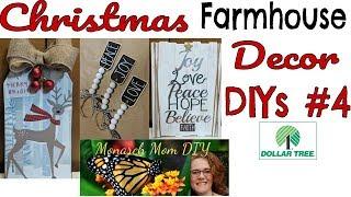 CHRISTMAS FARMHOUSE DOLLAR TREE DECOR DIYs #4