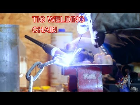 TIG welding a Chain Candle Holder - Metalworking DIY project - Roma Custom Bike