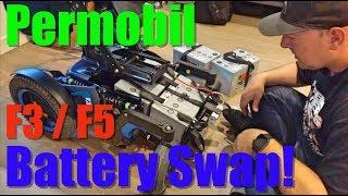 WHEELCHAIR REPAIR: Permobil F3/F5 Battery swap