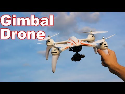 Beginner Camera Drone with a GIMBAL for Cheap! - WLtoys Q696-D - TheRcSaylors