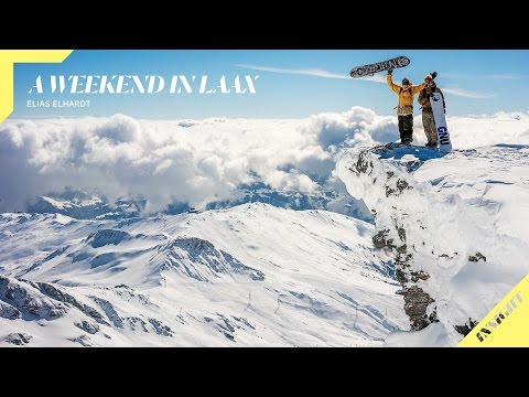 Elias Elhardt Spends a Weekend Snowboarding Laax with Nicolas Müller