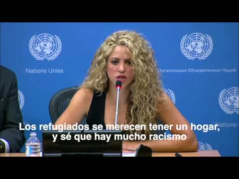 United Nations: Shakira's remarks about the refugee crisis in Syria