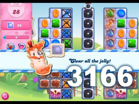 Candy Crush Saga Level 3166 (3 stars, No boosters)