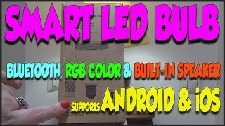 bluetooth led smart bulb with integrated speaker and rgb color review