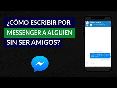 Cómo Enviar un Mensaje por Messenger a Alguien que no es tu Amigo