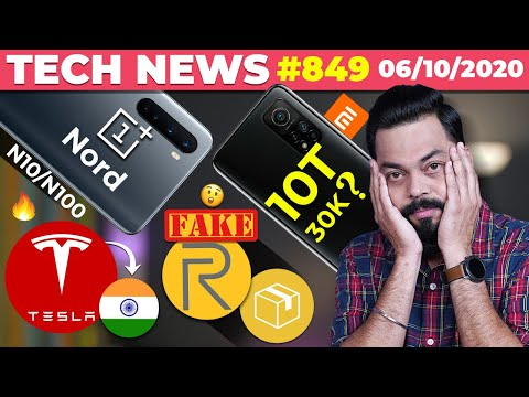 OnePlus Nord N10/N100 Coming, Mi 10T Series Under 30K?,Tesla In India?, Fake realme Products-#TTN849