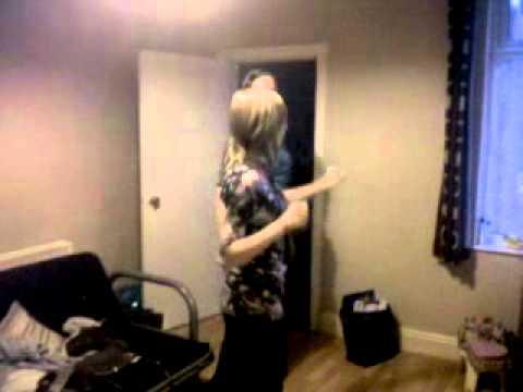 Me and Hannah dancing to Agadoo!