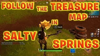 Follow the Treasure Map Found in Salty Springs! Fortnite Season 4 Week 3 Battle Pass Challenge