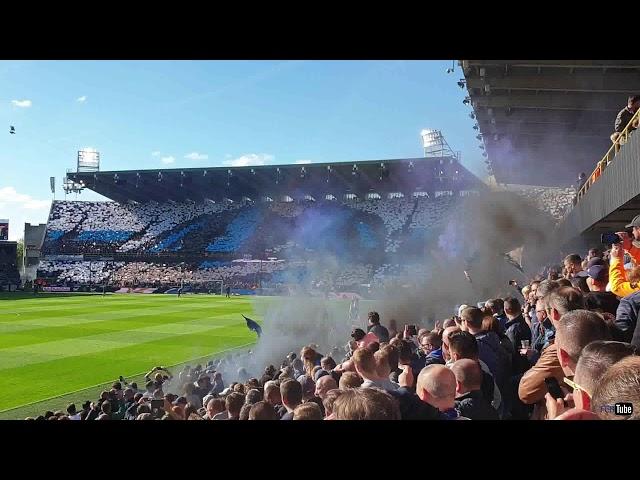 2018-2019 - Club Brugge-Racing Genk - Tifo Voor De Match