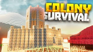HUGE MOUNTAIN TOWER - Colony Survival PC Gameplay Part 3 - New Survival Minecraft Clone
