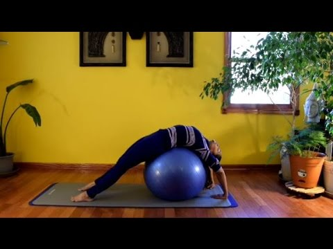 Stability Ball - Ab Curls, Leg Lifts, Bounces for Core Strength with Vidya Nahar - Daily Pilates 5