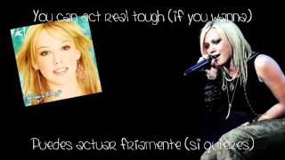Hilary Duff - So Yesterday (Lyrics English/Spanish) + Download Link!