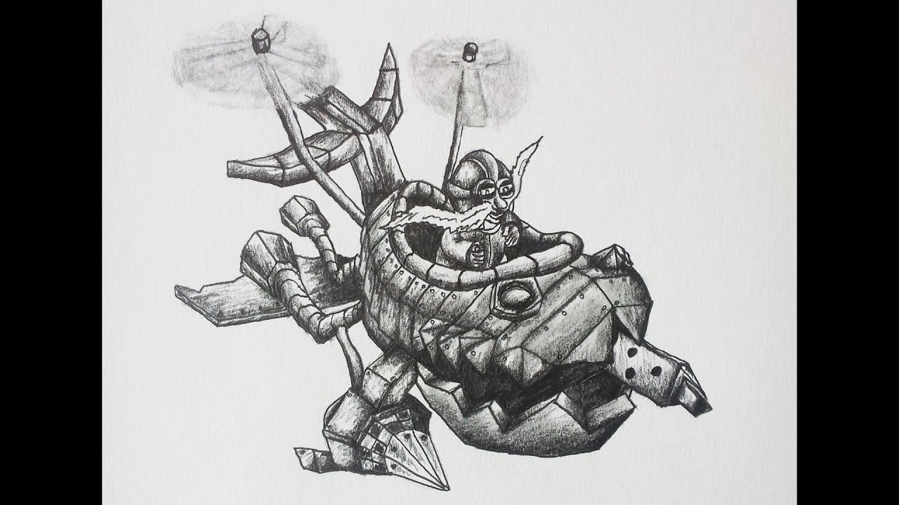 Drawing Corki - League of Legends Drawings - YouTube