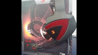 A4tech Bloody 7.1 Gaming Headset G501 Unboxing + Review