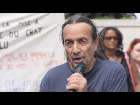 L'intervention de Patrick Sacco au rassemblement pour Chevelu - Paris Juin 2017
