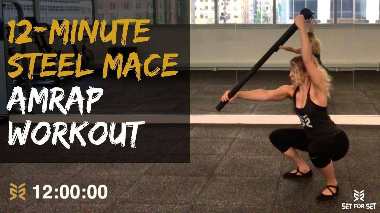 12 Minute Steel Mace AMRAP Workout