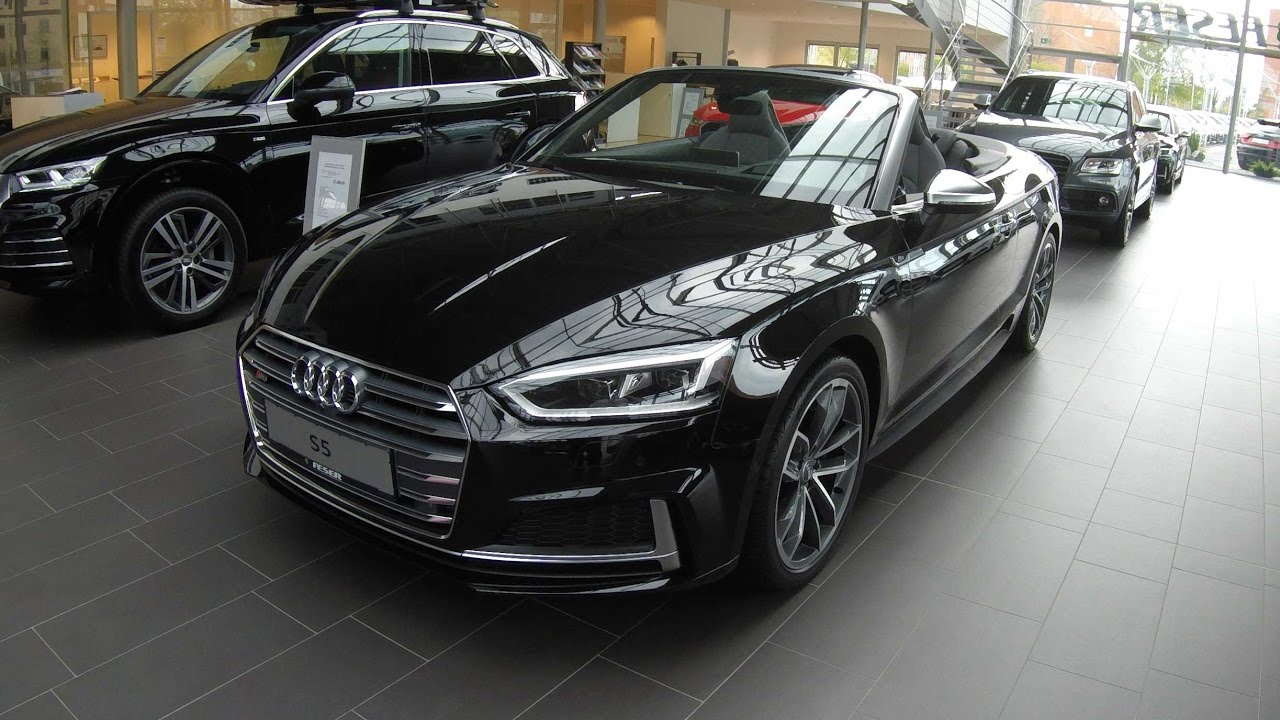 audi s5 cabriolet new model 2017 a5 type f5 walkaround interior mythos black colour. Black Bedroom Furniture Sets. Home Design Ideas