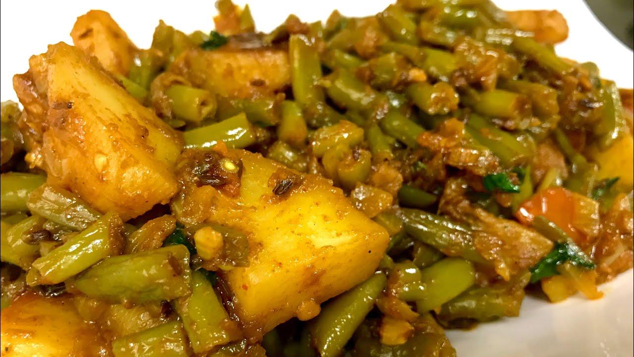 Download Nutritious Green Beans Potato recipe | Green Beans Aloo ki sabzi