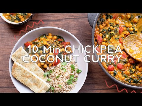 Quick and Easy 10 Min Vegan Chickpea Coconut Curry