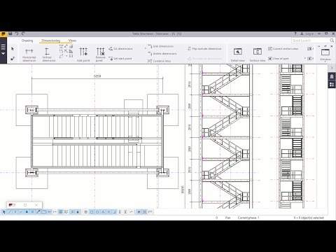 Staircase Tower 2D Creation in Tekla Structures