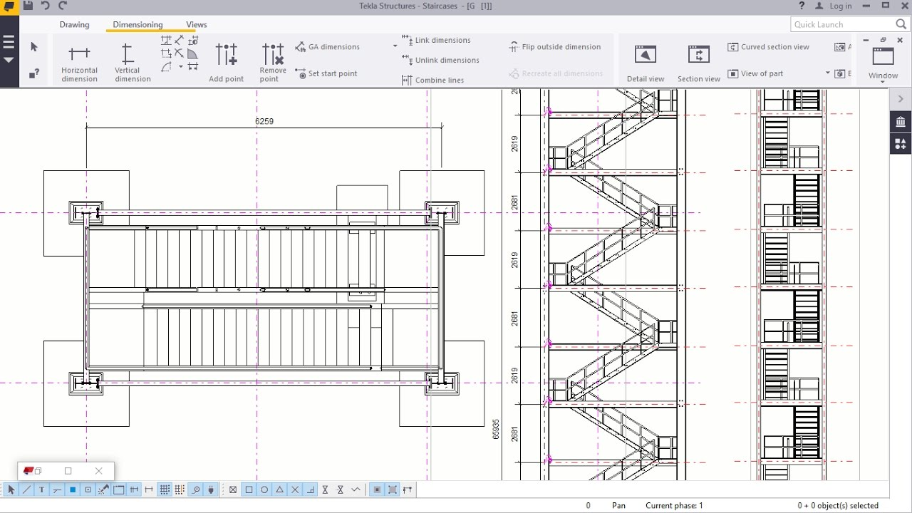 Staircase Section Tower : Staircase tower d creation in tekla structures youtube