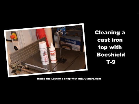 Cleaning a Cast Iron Table with Boeshield T-9