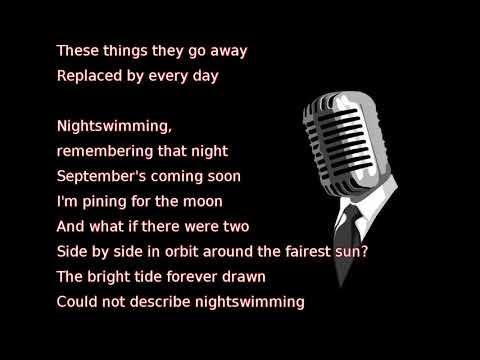 R.E.M. - Nightswimming (lyrics)