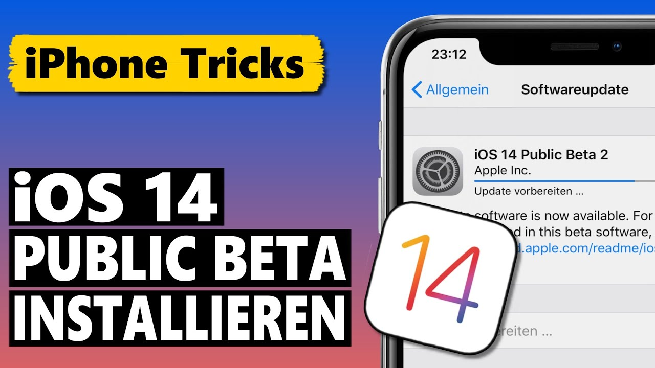 iOS 14 Public Beta Download & Installation (deutsch)