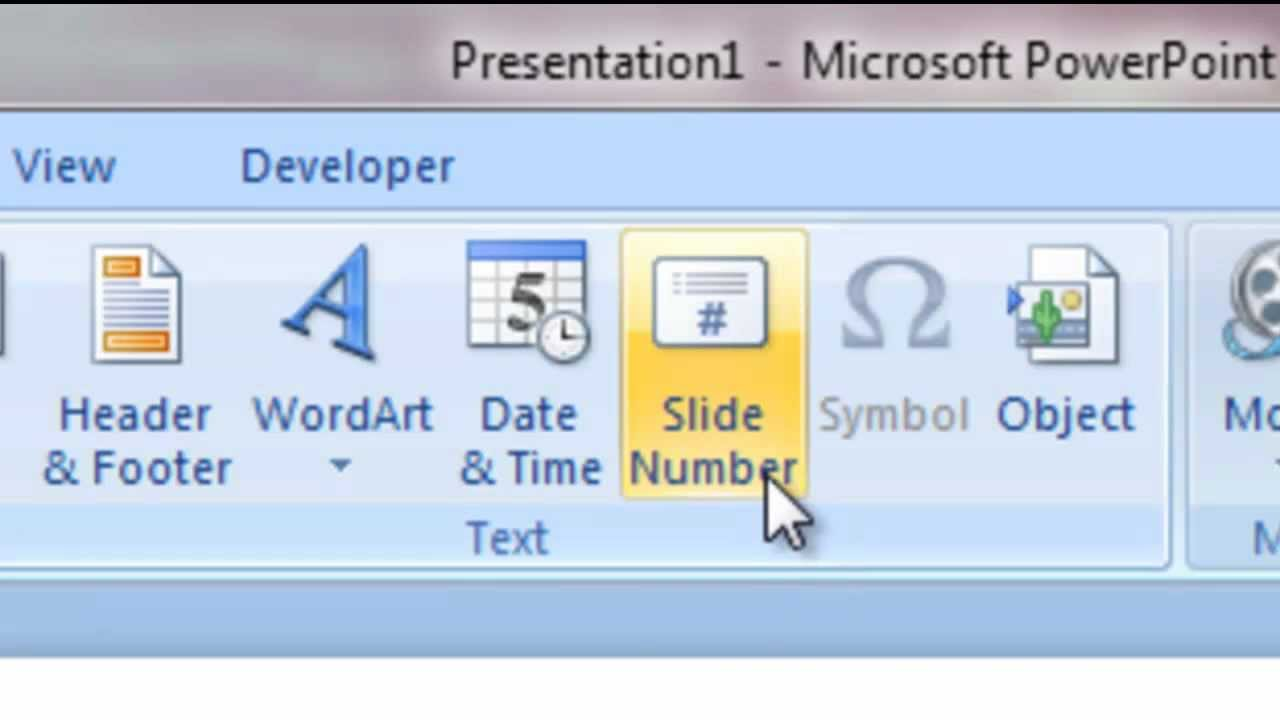 Microsoft powerpoint how to add a slide number and how to format microsoft powerpoint how to add a slide number and how to format background basic youtube toneelgroepblik Choice Image