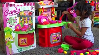 Kids Kitchen Cooking Playset | Little Girl Pretend Food Playtime Fun