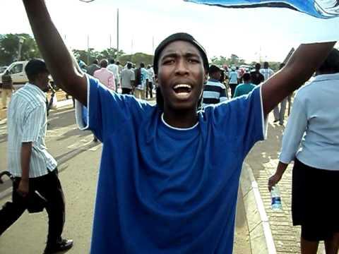 Botswana - Celebrating after beating Tunisia 1-0 on the 18th November 2010.AVI